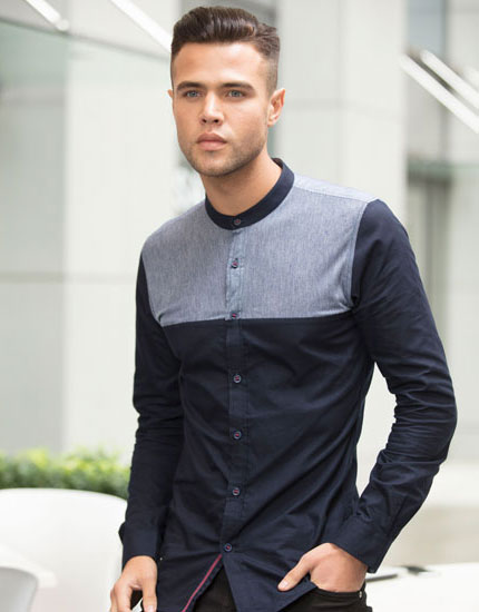 Mens Paneled Shirt