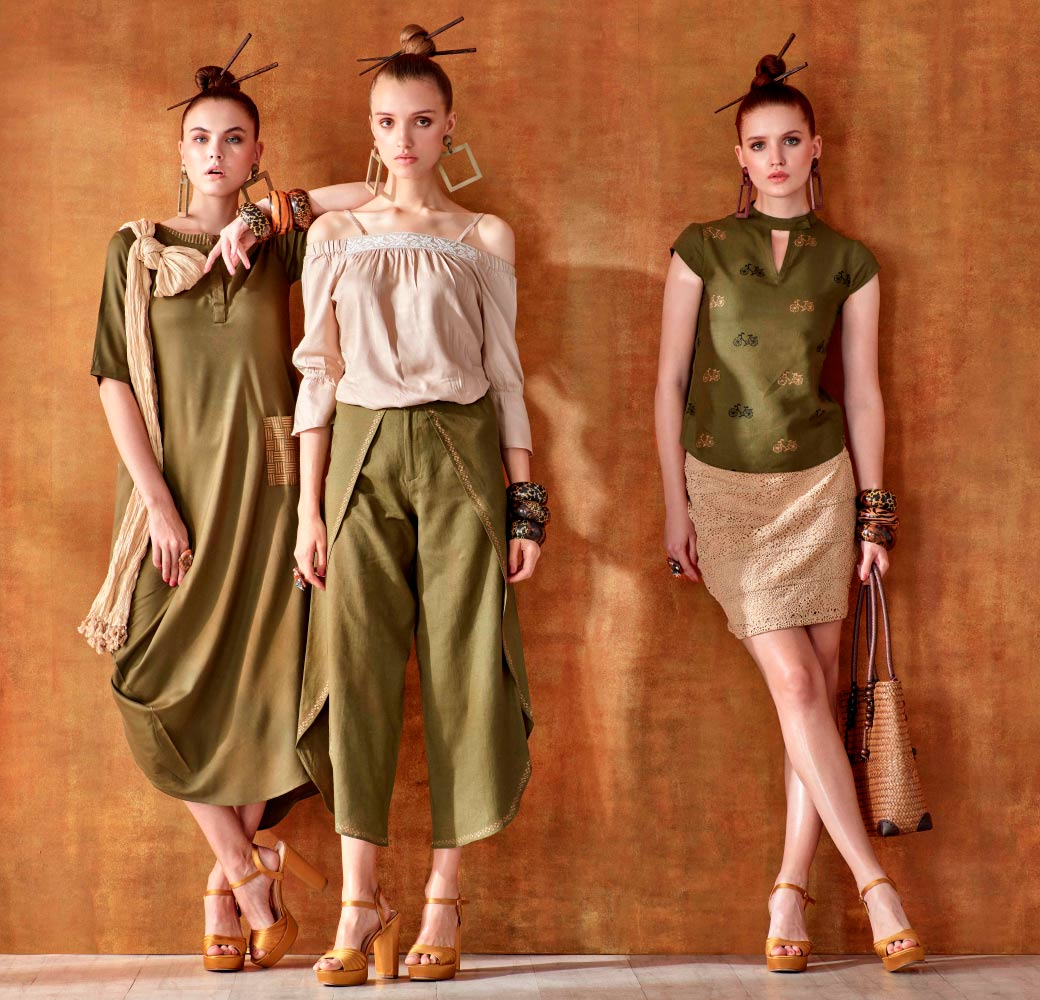 Olive Beige Women Clothing