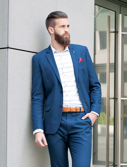 Electric Blue Mens Suit